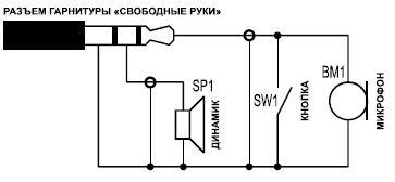 гарнитура телефонная схема